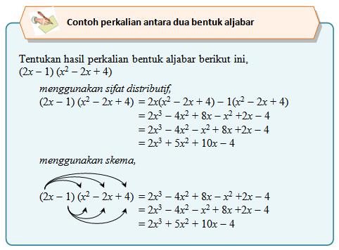 operasi hitung pada bentuk aljabar simak contoh contoh berikut ini